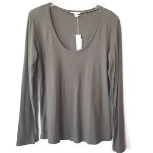 James Perse army green long sleeve tee size 3